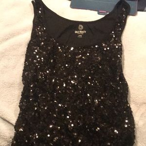 Black sequin tank top!